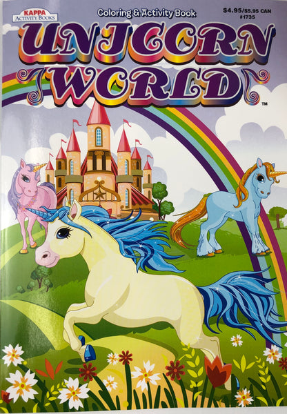 UNICORN WORLD COLORING AND ACTIVITY BOOK - Unusual Finds Discount Store
