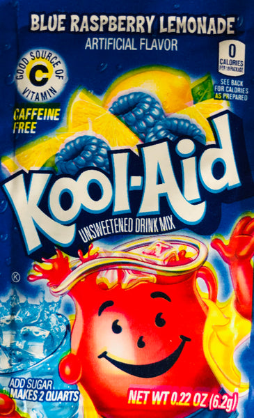 KOOL-AID BLUE RASPBERRY LEMONADE SINGLE PACKET - Unusual Finds Discount Store