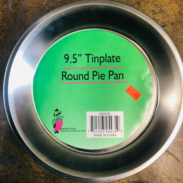 "9.5"" PIE PAN TINPLATE - Unusual Finds Discount Store"