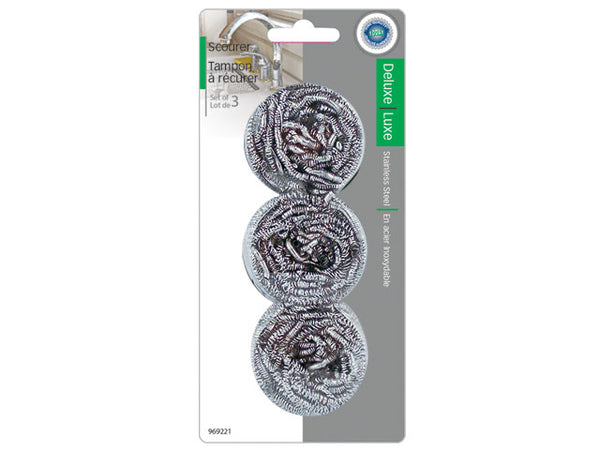 SCOURER STAINLESS STEEL 3pk - Unusual Finds Discount Store