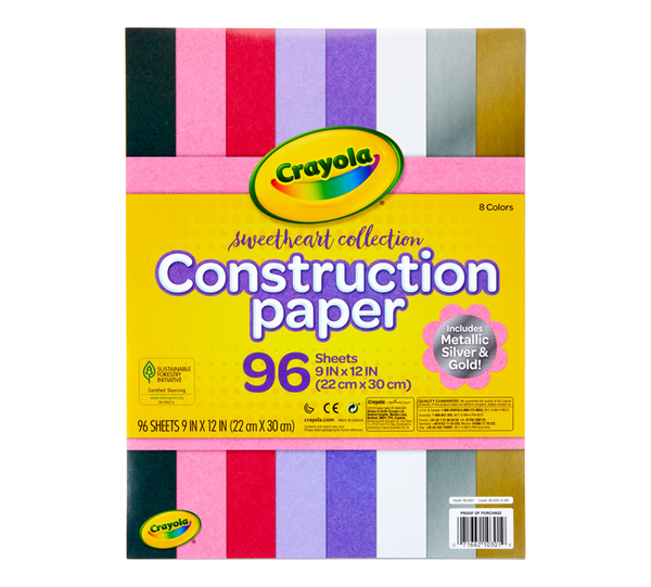 Crayola Construction Paper 96 sheets - Unusual Finds Discount Store