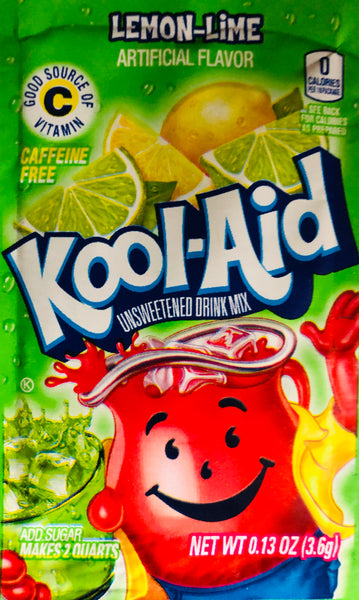KOOL-AID LEMON LIME SINGLE PACKET - Unusual Finds Discount Store