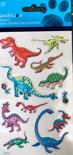 DINO PUFFY STICKERS - Unusual Finds Discount Store