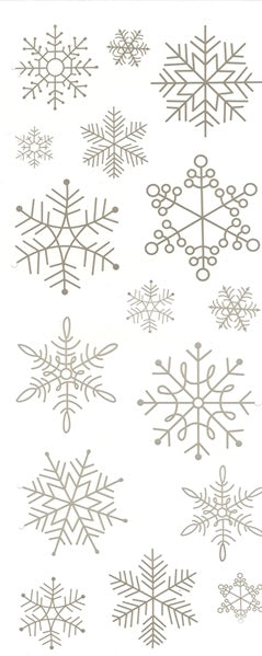 ELEGANT SNOWFLAKES CLEAR STICKERS - Unusual Finds Discount Store