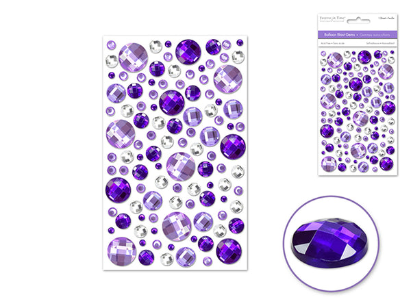 BALLOON BLAST GEMS VIOLA PURPLE 3D SELF-adhesive - Unusual Finds Discount Store