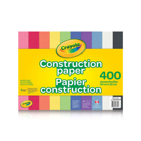 Crayola Construction Paper 400pk - Unusual Finds Discount Store