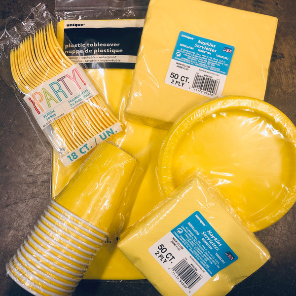 NEON YELLOW TABLEWARE - Unusual Finds Discount Store