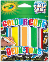 CRAYOLA 5 PK COLORCORE SIDEWALK CHALK - Unusual Finds Discount Store