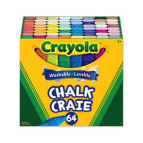 CRAYOLA WASHABLE 64 SIDEWALK CHALKS - Unusual Finds Discount Store