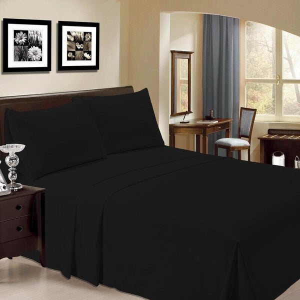 Black Cozy Spun SHEET SET - Unusual Finds Discount Store