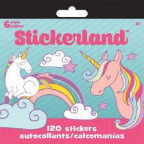 UNICORN STICKERLAND PAD - Unusual Finds Discount Store