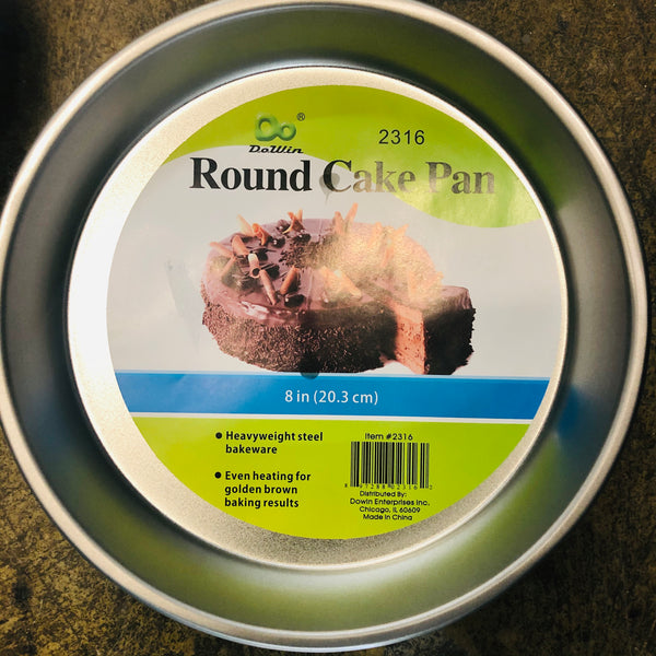 "8"" ROUND CAKE PAN - Unusual Finds Discount Store"
