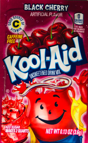KOOL-AID BLACK CHERRY SINGLE PACKET - Unusual Finds Discount Store