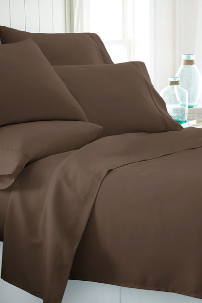 DARK BROWN Cozy Spun SHEET SET - Unusual Finds Discount Store