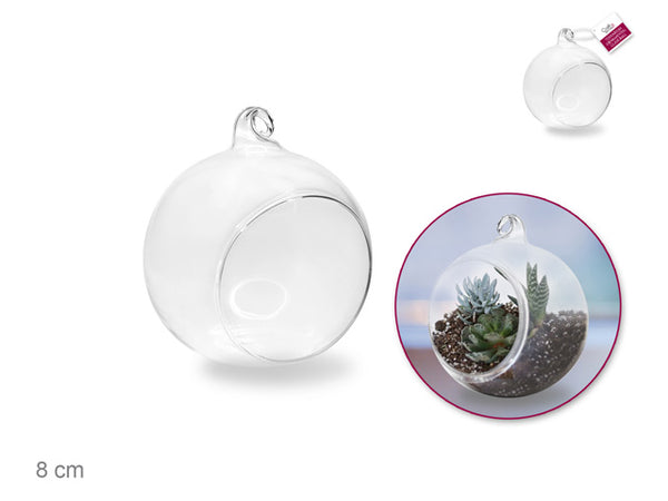 GLASS TERRARIUM ORNAMENT 8cm - Unusual Finds Discount Store