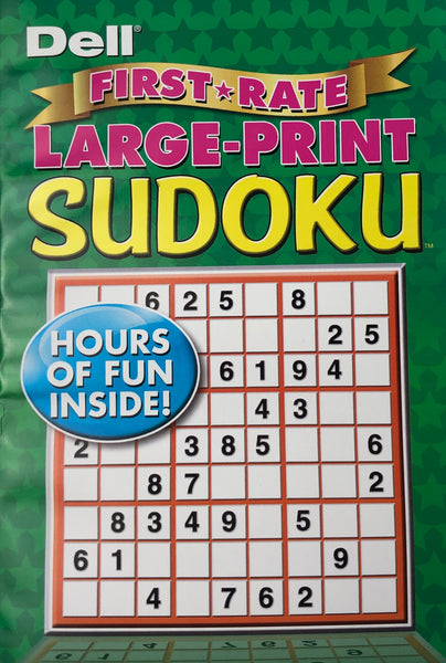 DELL FIRST RATE LARGE PRINT SUDOKU - Unusual Finds Discount Store