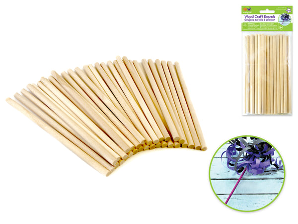 "WOOD CRAFT DOWELS 1/4"" x 6"" 30pcs - Unusual Finds Discount Store"