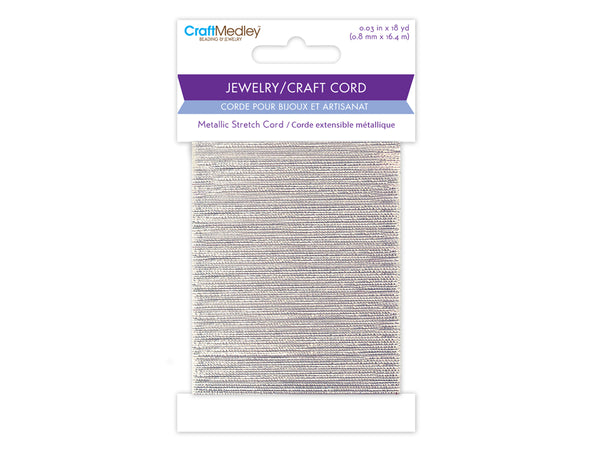 Jewelry Craft Cord Metallic Stretch Cord silver - Unusual Finds Discount Store
