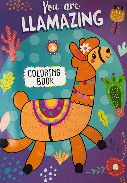 YOU ARE LLAMAZING CHILDRENS COLORING BOOK - Unusual Finds Discount Store