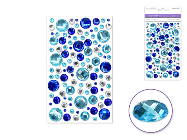 BALLOON BLAST GEMS OCEAN BLUE 3D SELF-adhesive - Unusual Finds Discount Store