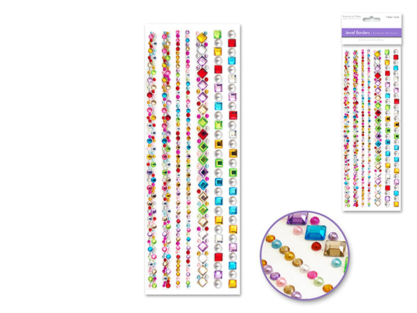 JEWEL BORDERS SELF-ADHESIVE GEM MEDLEY - Unusual Finds Discount Store
