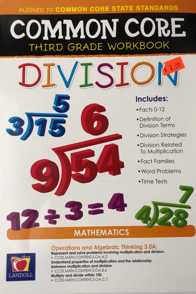 DIVISION THIRD GRADE ACTIVITY WORKBOOK - Unusual Finds Discount Store