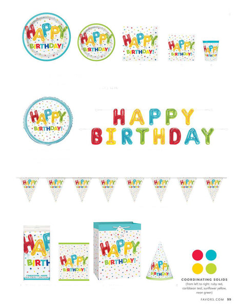 Happy Balloon Birthday Tableware - Unusual Finds Discount Store
