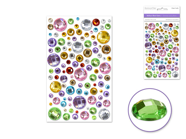 BALLOON BLAST GEMS MULTICOLOR 3D SELF-adhesive - Unusual Finds Discount Store