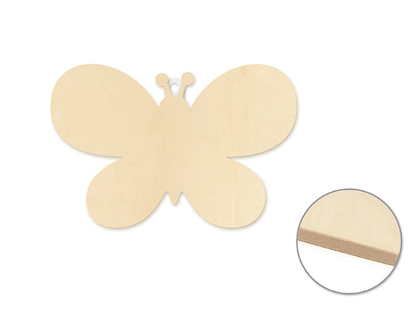 WOOD DECOR WALL PLAQUE BUTTERFLY - Unusual Finds Discount Store