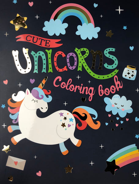 CUTE UNICORN ADULT COLORING BOOK - Unusual Finds Discount Store