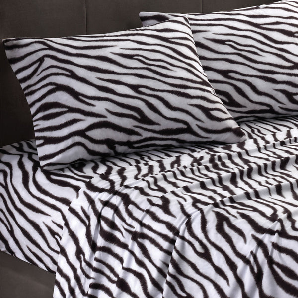 Zebra Cozy Spun SHEET SET - Unusual Finds Discount Store