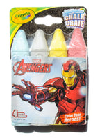 CRAYOLA Avengers  WASHABLE SIDEWALK CHALK-4PC - Unusual Finds Discount Store