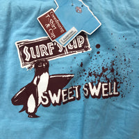 Surfs up Girls T-shirt-Blue-Med - Unusual Finds Discount Store