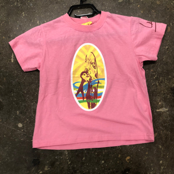 Surfs up Girls T-shirt-Pink-Xl - Unusual Finds Discount Store