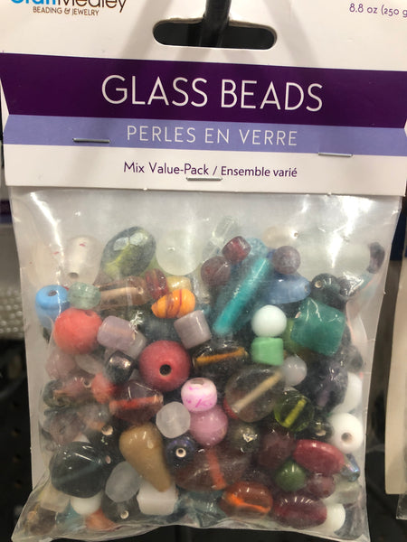 Large 250 g mix glass beads - Unusual Finds Discount Store