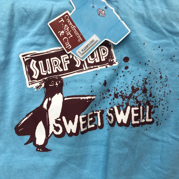 Surfs up GIRL T-SHIRT-blue - Unusual Finds Discount Store