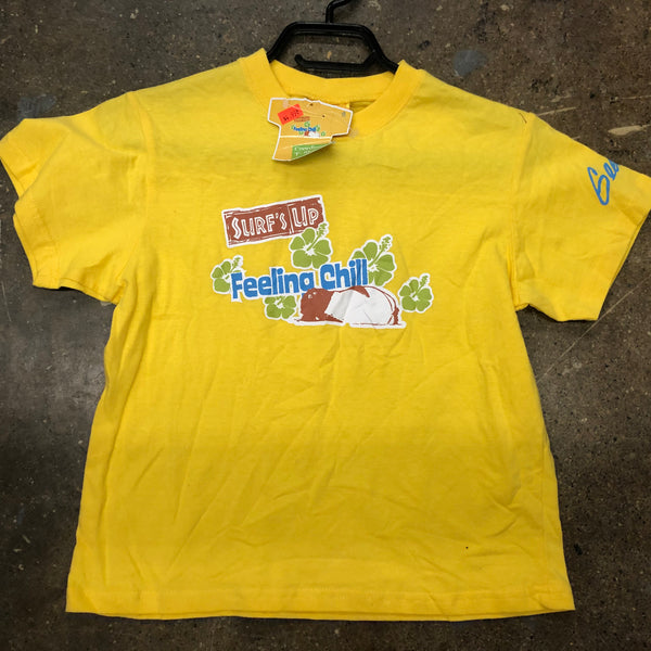 Surfs up Girl T-shirt-Yellow-Med - Unusual Finds Discount Store