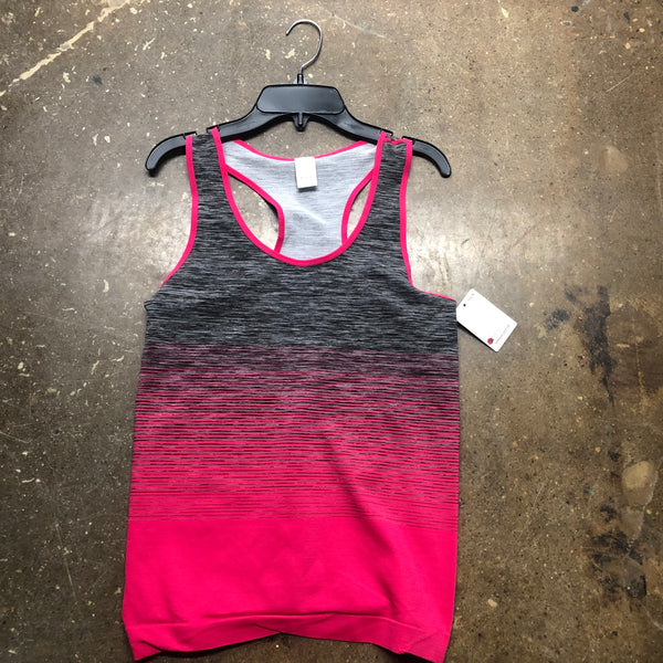 Spandex Racer Back Tanks pink Grey - Unusual Finds Discount Store