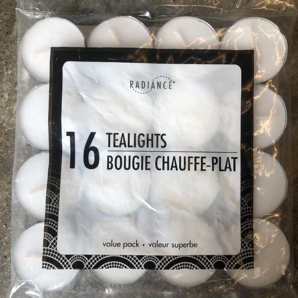 16 value pack tealights - Unusual Finds Discount Store