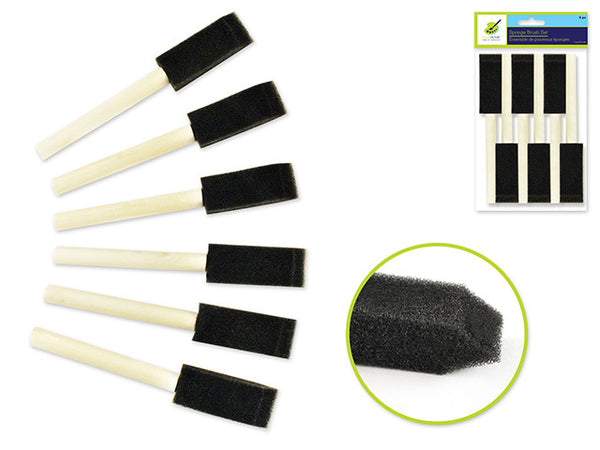 "SPONGR PAINT BRUSH SET 1"" 6pcs - Unusual Finds Discount Store"