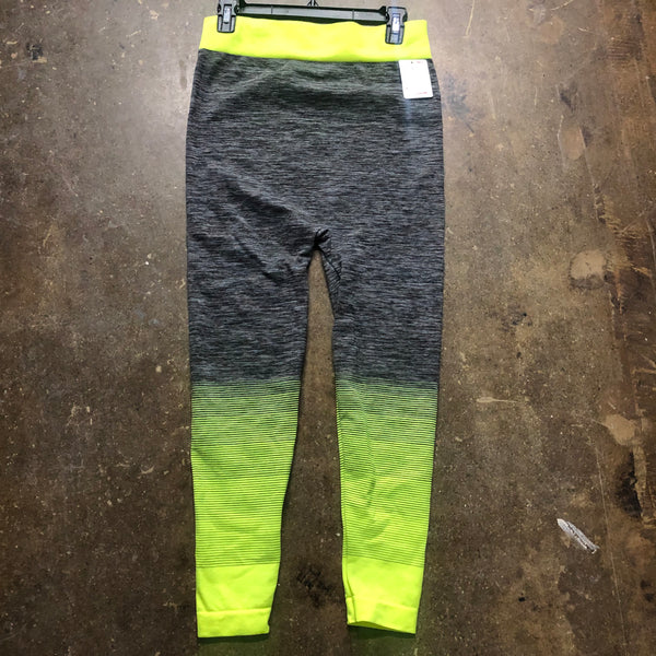 Stretch Pants Neon Yellow Grey - Unusual Finds Discount Store