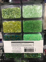 Glass Bead kits Greens - Unusual Finds Discount Store