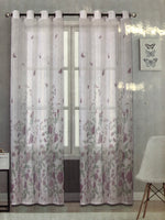 Sheer Window Curtain Butterfly Rose - Unusual Finds Discount Store