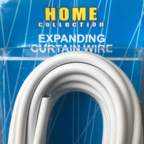 Expanding curtain wire with hardware - Unusual Finds Discount Store