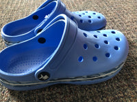 Clog Blue with Dolphin Band - Unusual Finds Discount Store