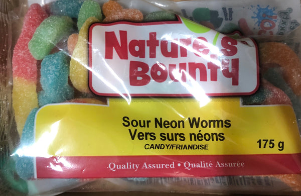Sour Neon Worms 175g - Unusual Finds Discount Store