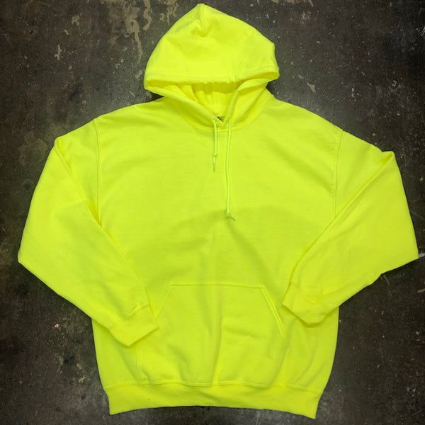 Unisex Neon Yellow Hoodie Adult - Unusual Finds Discount Store