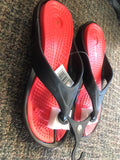 Flip Flops Clogs Red and Black - Unusual Finds Discount Store