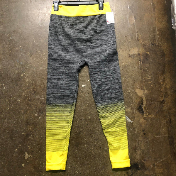 Stretch Pants Yellow Grey - Unusual Finds Discount Store