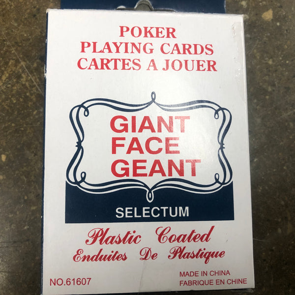 Poker Playing Cards Giant Face - Unusual Finds Discount Store